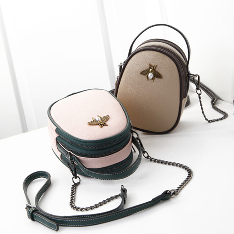 Genuine Leather Mobile Phone Pouch Wallet Case Women s Crossbody Shoulder Bag for iPhone 6 7