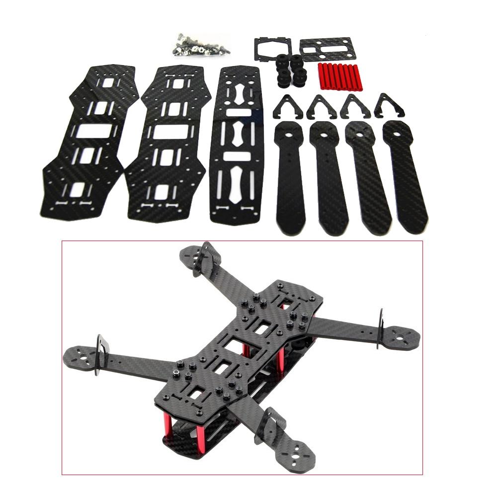 1set Blackout 100% Carbon Fiber Mini 250 FPV Quadcopter Frame for QAV250 carbon fiber mini qav250 c250 quadcopter emax1806motor andemax bl12a esc flight control prop fpv