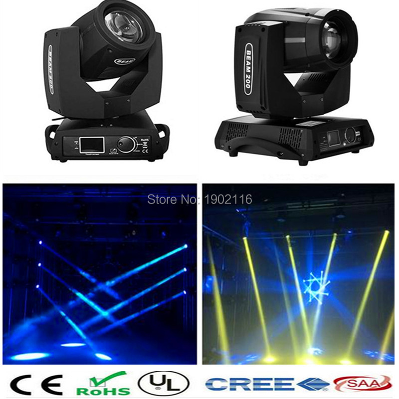 2pcs High quality New Touch Screen Stage Light 5R Zoom 200W Beam light 200W LED Moving Head Light wedding DJ Lighting LED laser