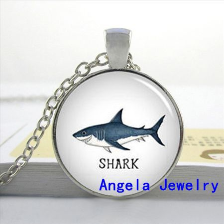 Photo new fashion shark necklace blue shark pendant animal jewelry photo new fashion shark necklace blue shark pendant animal jewelry glass cabochon necklace pendant in pendant necklaces from jewelry accessories on aloadofball Gallery