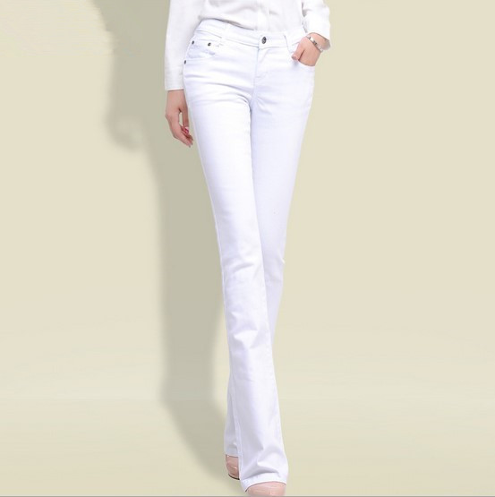 White Cut up Skinny Jeans Promotion-Shop for Promotional White Cut