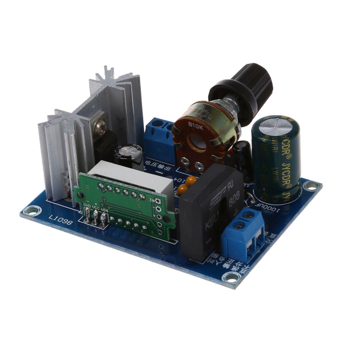 Good Buy Lm317 Adjustable Voltage Regulator Step Down Power Supply 6v Or 12v Lead Acid Battery Charger Using Module Led Meter