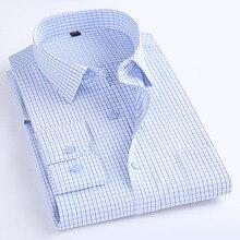 Macrosea 클래식 스타일 남성 격자 무늬 셔츠 긴 소매 남성 캐주얼 셔츠 편안한 통기성 남성 사무복 의류