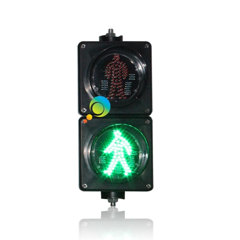 AC85-265V New Arrival 100mm PC Housing School Teaching Red Green Static Mini LED Pedestrian Traffic Light
