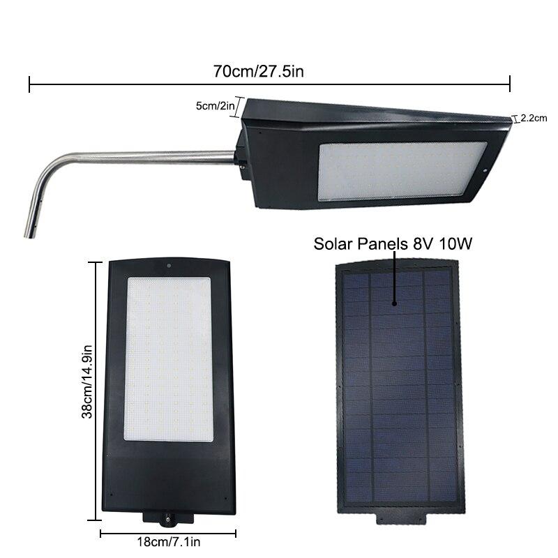SZYOUMY 15W 108 LEDs 2100LM Solar Powered Radar Motion Sensor Wand Licht Im Freien Wasserdichte Energiesparlampe Straßen Hof pfad - 3