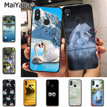 MaiYaCa Swan Prints lake Dominant Protector phone Case for xiaomi mi 6 8 se note2 3 mix2 redmi 5 5plus note 4 5 5 Mobile Cases(China)