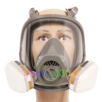 7 Pcs Suit Anti Fog 6800 Full Face Respirator Gas Mask Facepiece Painting Spraying 2 In
