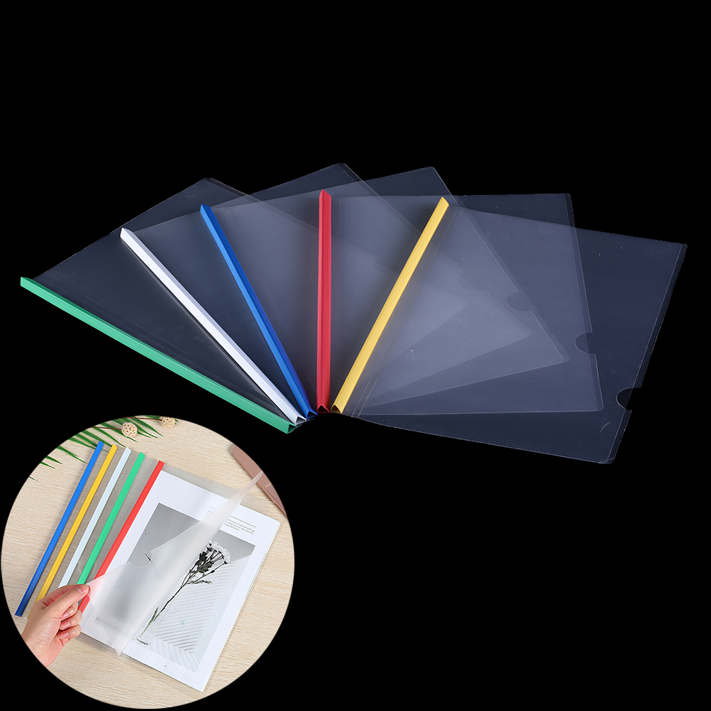 5pcs/lot Porable Double-layer A4 Document Storage Filing Products Insert Test Paper Booklet Folder School Supplies