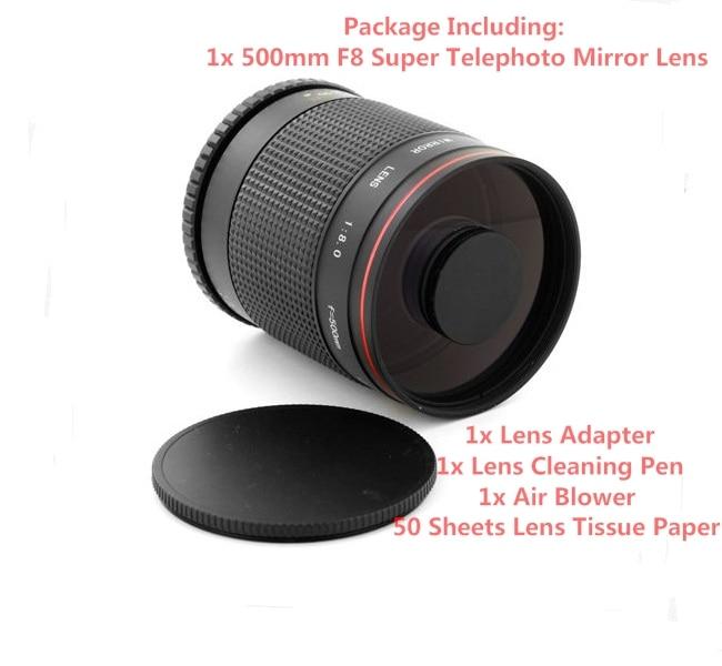 Super Téléobjectif 500mm f/8 Objectif pour Canon EF Rebel 600D 1100D 1000D 550D 200D, 80D, 77D, 70D, 60D