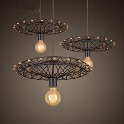 Retro droplight loft osobowość twórcza restauracja bar amerykańska wiejskich kutego żelaza przemysłowych diabelski młyn droplight