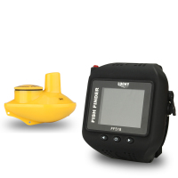 Lucky Brand Fish Finder Wireless Wrist Watch Waterproof Built In Battery Sonar Detection 180ft 60m Fishing