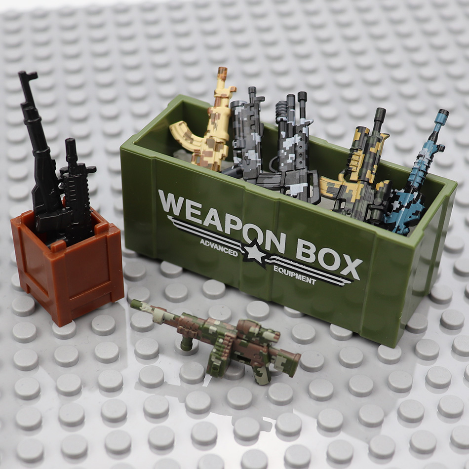 Military Sniper Rifle Gun Weapon Box Parts Compatible Legoed Army Ww2 Soldier Figures Building Blocks Bricks DIY Children Toys