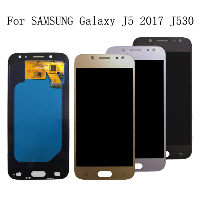 AMOLED dla Samsung Galaxy J5 2017 J530 J530F ekran dotykowy digitizer zgromadzenie dla Samsung Galaxy J530 ekran LCD zestaw naprawczy