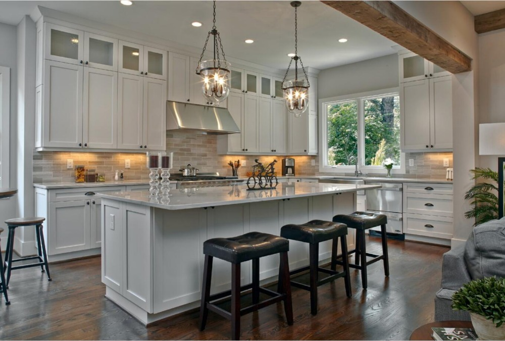 2018 classical shaker style solid wood kitchen cabinets ...