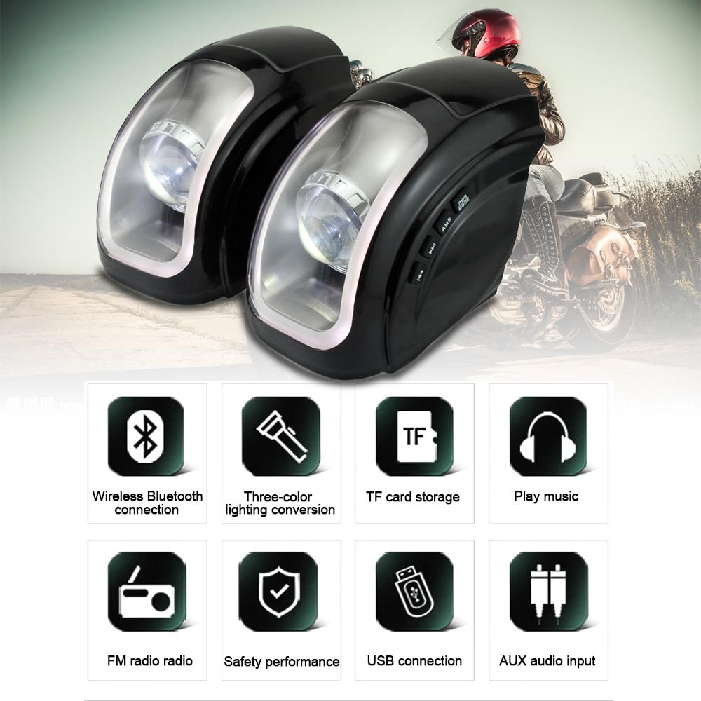 Motorcycle Waterproof Bluetooth Speakers Motorcycle Audio System MP3 Speaker FM Radio Remote
