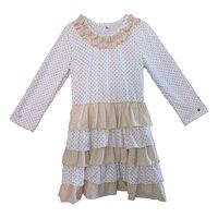 Fashion Casual Wear Baby Girls Fall Frocks Designs Dress Autumn Winter Wear Layered Cotton Tunic Dress