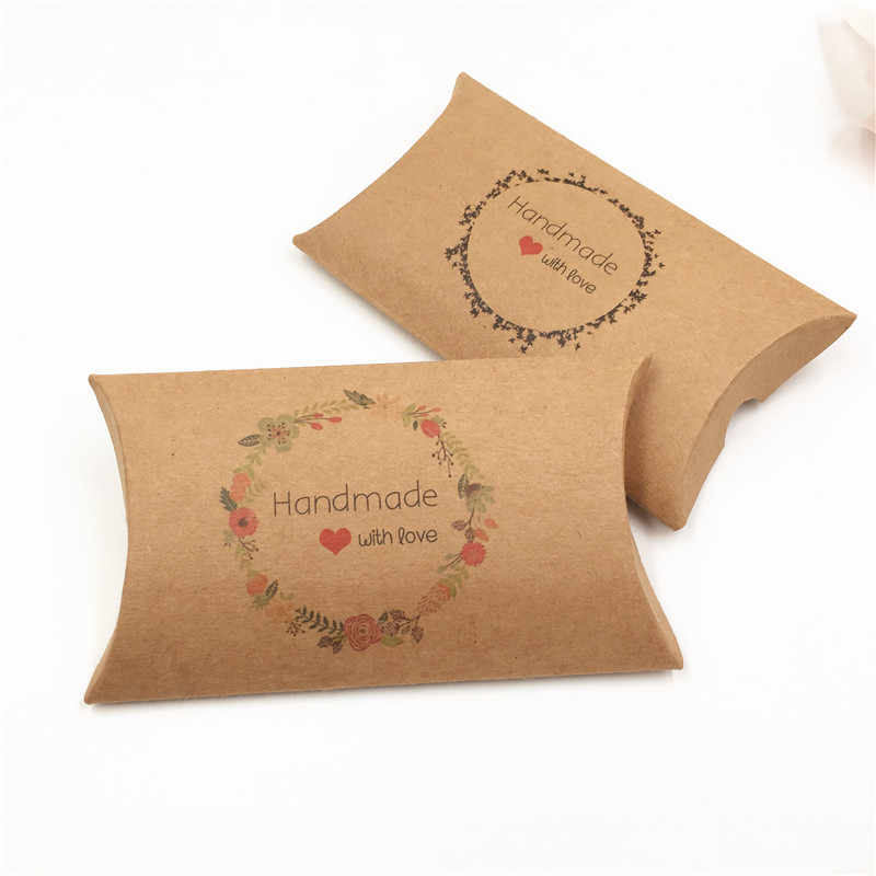 Creative Colorful cardboard Pillow Design Candy Gift Box Favor Small Gifts Packing Box For Necklace/Earring/Toys/Suagr