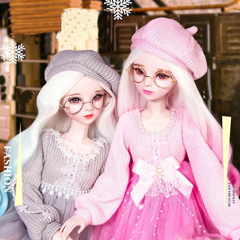 60cm lifelike moda menina bonecas grande original feito à mão 1/3 bjd boneca conjunto completo articulado boneca crianças brinquedos para o presente de aniversário da menina