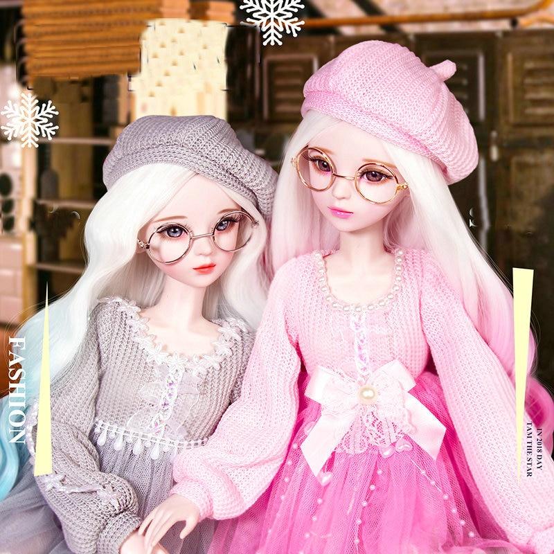 Lifelike moda menina articulado bonecas 60cm grande original artesanal 1/3 bjd boneca conjunto completo crianças brinquedos para o presente de aniversário da menina