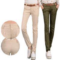 #1602 נשים מכנסיים מזדמנים דקים 2017 אביב הקיץ slim femme pantalon מכנסי הרמון נשים מכנסיים עיפרון מכנסיים פורמליים khaki/צבא