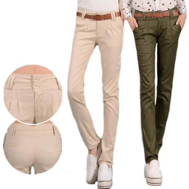 #1602 Casual pants women 2017 Spring summer Slim Pantalon femme Pencil pants Harem Womens pants Formal trousers Khaki/Army