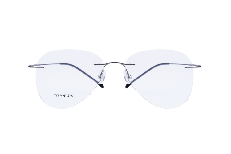 a6732908d39 100% Real Titanium Rimless Prescription Glasses Frame Women Classic  Eyeglasses Myopia Optical Oculos De Grau Gafas New 2017-in Eyewear Frames  from Apparel ...