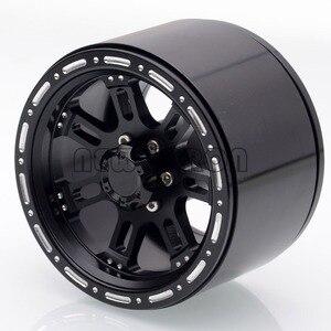 "Image 3 - Novo enron 4 pçs roda de metal jantes hub 2.2 ""apto para rc rock crawler axial wraith yeti scx10 rr10 trx4 TRX 4 km2 90045 90031 90020"