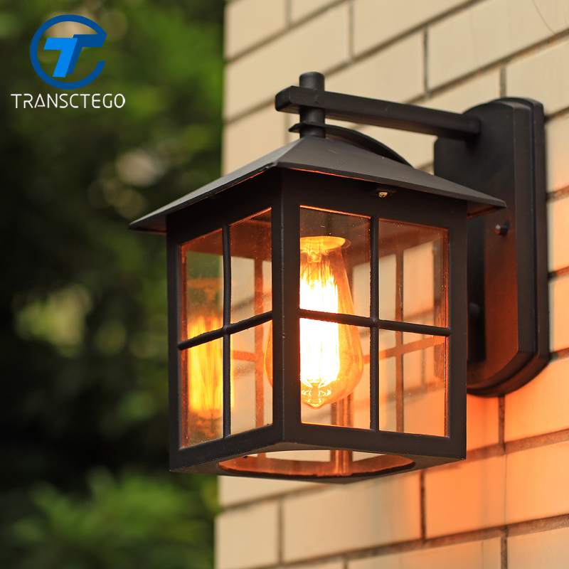 Wall Lamp American Country Style simple modern waterproof ...