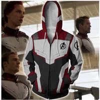 Marvel Die Superhero 4 Endgame Quantum Reich Cosplay Kostüm Hoodies Männer Mit Kapuze Zipper Ende Spiel Sweatshirt Jacke