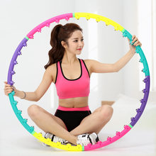 Sport Hoops Magnetic Therapy Massage lose Weight Loss Waist Exercise For Women Fitness Equipment Body Building Yoga Circle Ring(China)