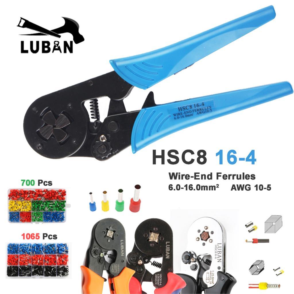 HSC8 16-4 MINI-TYPE SELF-ADJUSTABLE CRIMPING PLIER 4-16mm2 terminals crimping tools multi tool tools hands pliers plierHSC8 16-4 MINI-TYPE SELF-ADJUSTABLE CRIMPING PLIER 4-16mm2 terminals crimping tools multi tool tools hands pliers plier