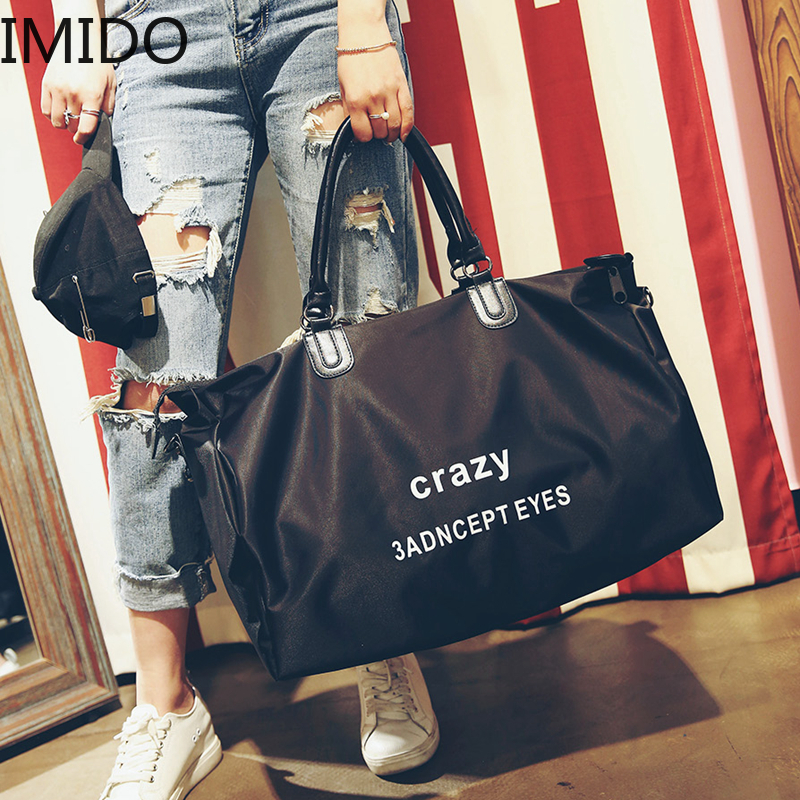 IMIDO Oxford Luggage Handbag Travel Bags Letter Printed Women Travel Totes Fashion Brand Designed Large Duffle Bag Brand Luxury
