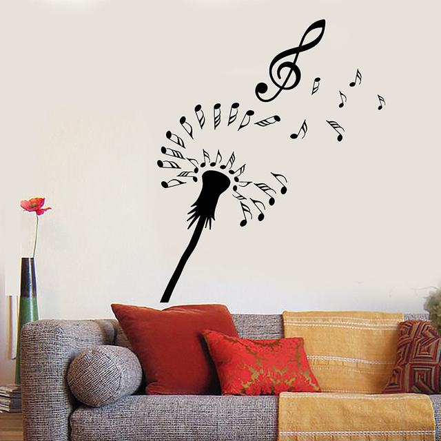 Aliexpresscom Buy Vinyl Wall Decal Abstract Dandelion Notes - Vinyl wall decals abstract