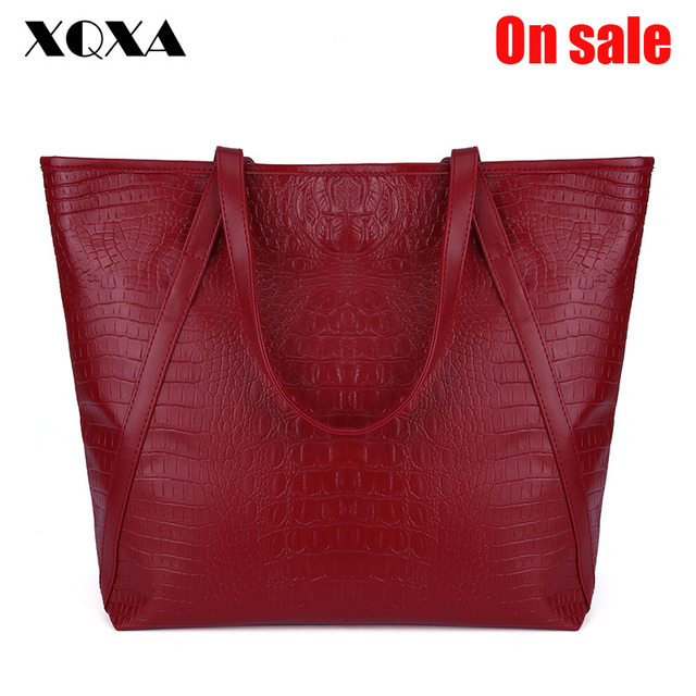 XQXA Black Casual Women Shoulder Bags PU Female Big Tote Bags for Ladies Handbag Large Capacity sac a main femme de marque