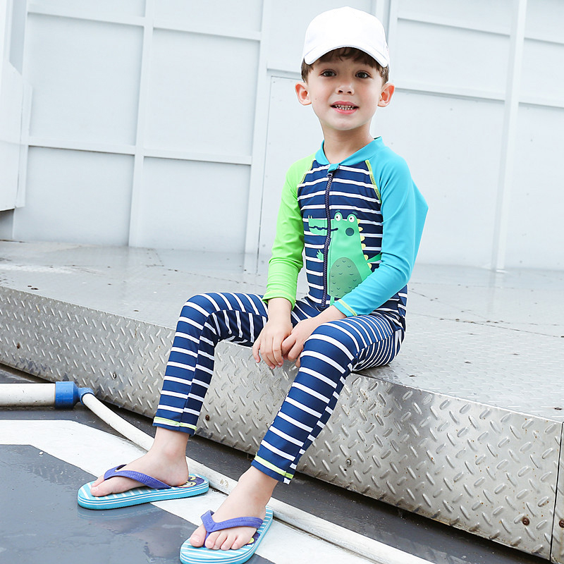 1-10Y Boys Swimsuits Dinosaur Toddler Baby Long Sleeve One Piece Swimsuit  Children Boy Swimwear Bodysuit + Cap Kids Bathing Suit - buy at the price  of $14.35 in aliexpress.com   imall.com