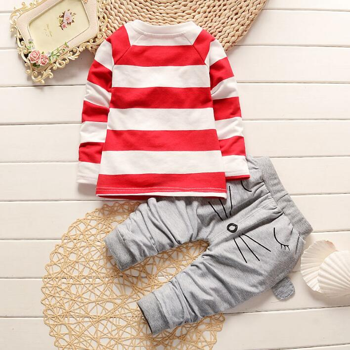 1a0b9d4d9 2017 New sale Boutique Baby Boy / girl Clothes Children Toddler Boys  Clothing Set Fashion Cartoon Cat Kids Clothes T shirt +Pant-in Clothing Sets  from ...