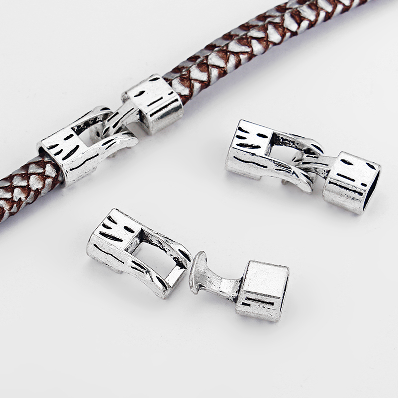 40 Nouveau or argent bronze plaqué Sertir Bouchons pour les chaînes en cuir cordes 5x10mm