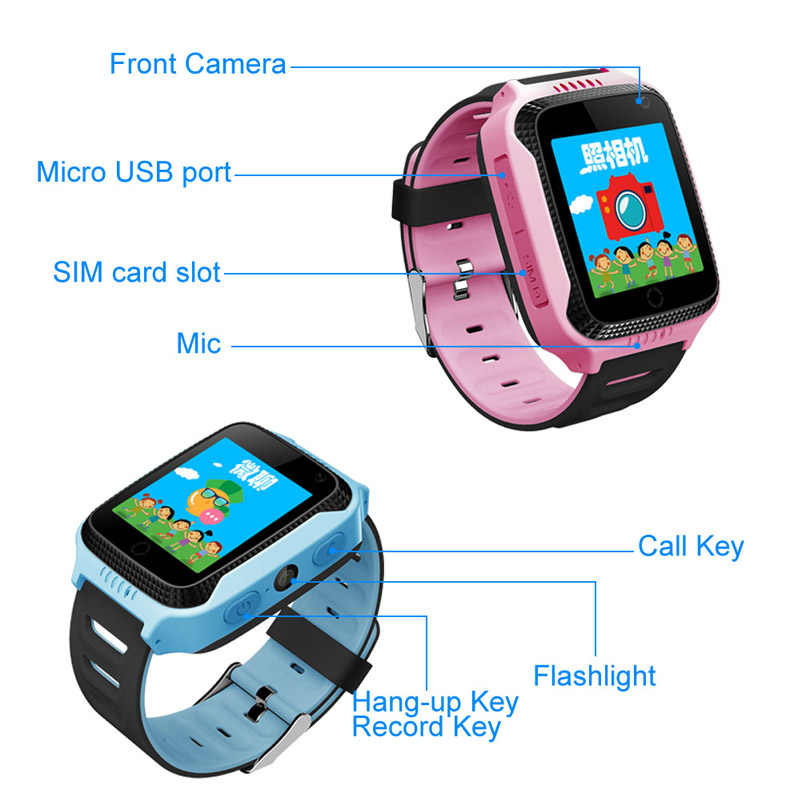 Q528 GPS Smart Watch With Camera Flashlight Baby Watch phone SOS Call Location Device Tracker for Kid Safe PK Q100 Q90 Q60 Q50