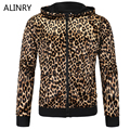 2017 New arrival men hoodies 2 colors simple leopard thin section men sportsweater fashion zipper turn-down collor sweatershirt