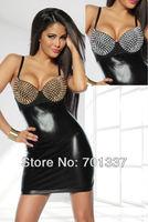 Sexy Lingerie Black Punk Dance Mini Dress Club Wear Party Wear B217302