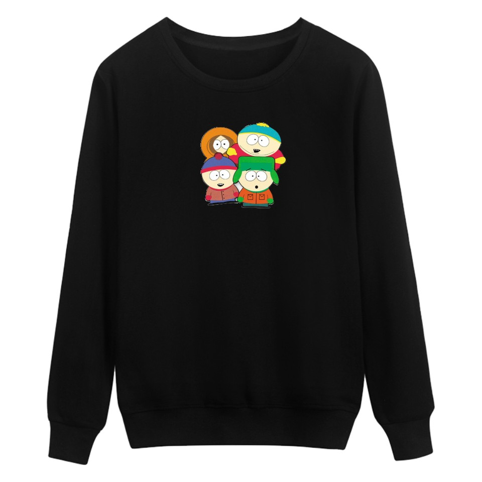 USA South Park Cartoon Capless Winter Hoodies Men Casual Autumn Black Hoodies And Sweatshirts For Couples