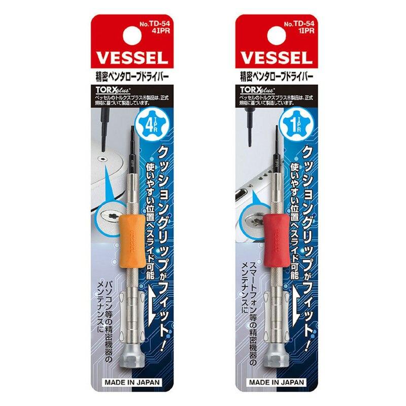 Купить с кэшбэком Original Japan Vessel TD series Micro Screwdriver for Repairing Mobile Phone Watches Camera Glasses Ultra Precision Small Screws