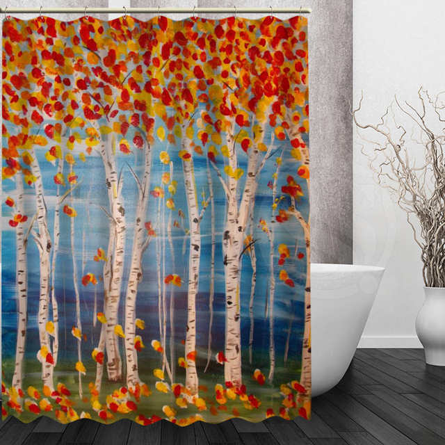Online Shop Custom Klimt Tree Of Life Shower Curtain Polyester Beautiful New Arrival Home Bathroom Bath Screens