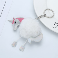 1 Piece 2017 New White Cute Fluffy Bunny Horses Trinket Mini Toy Doll Gags Practical Jokes