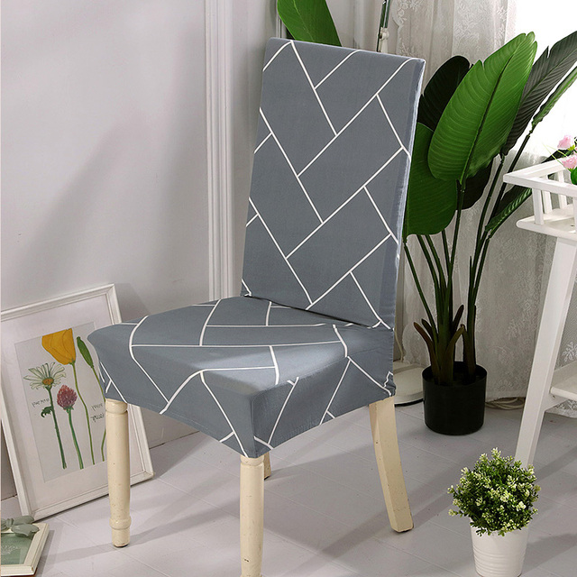 Complete Eetkamer Set.Spandex Dining Chair Cover Anti Dirty Removable Stretch Covers For