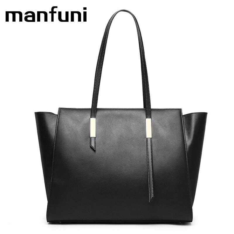 MANFUNI 2018 New Genuine Leather Womens Shoulder Messenger Bag Female Famous Natural Cowhide Handbag Shopping Casual Bags