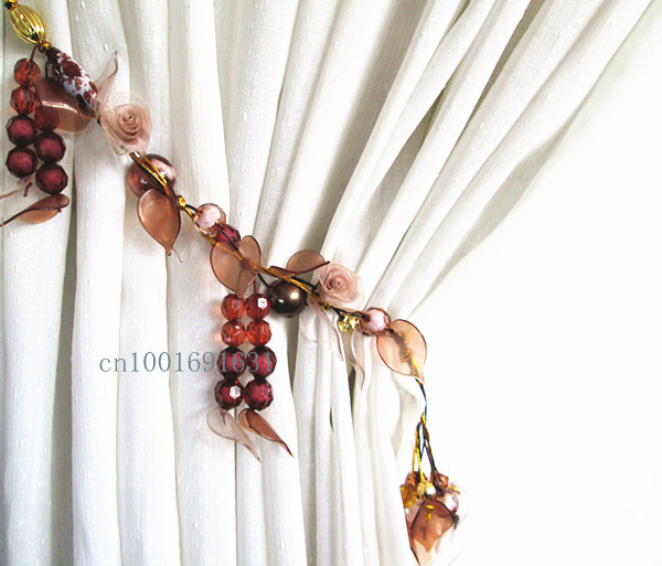 Curtain Strap Accessories Buckle Beaded Tieback BROWN