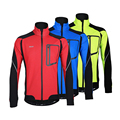 ARSUXEO Winter Thermal Fleece Clothing Bicycle Jersey Sports Long Sleeve Coat Long Sleeve Cycling Jersey Wear Cycling Jacket