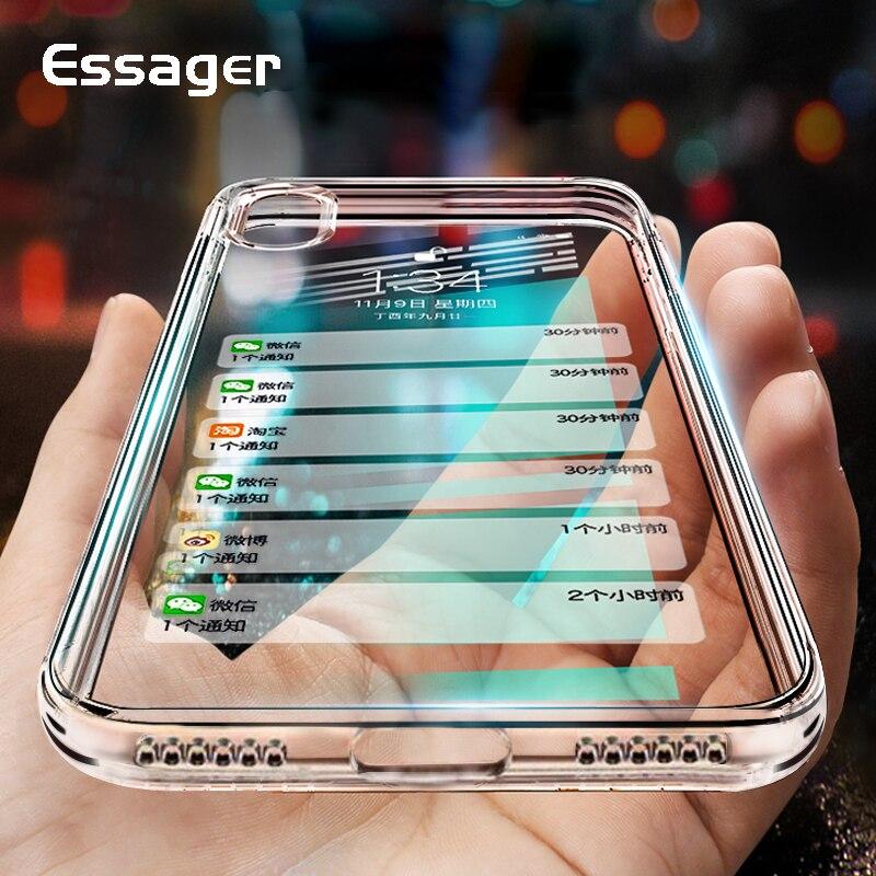 Essager силиконовый чехол для iPhone XS Max XR X 10 8 7 6 6 S Plus 5 5S SE Прозрачная Обложка из полиуретана чехол для iPhone 8 плюс 7 Plus Coque