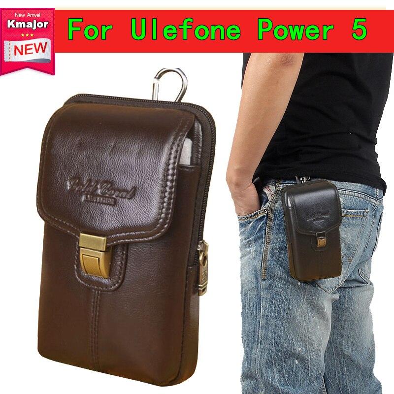 Для мужчин пояса из натуральной кожи поясная сумка Винтаж телефонные чехлы Multi-function Fanny Pack для Ulefone мощность 5 6,0 inche Сотовый Бесплатная достав...